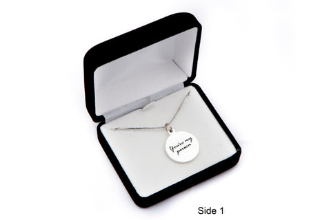 """You're My Person"" Charm Necklace, inspired by Grey's Anatomy"