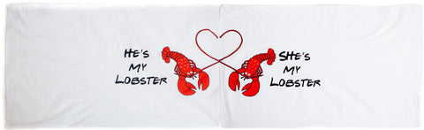 He's My / She's My Lobster Pillowcase Set, inspired by Friends