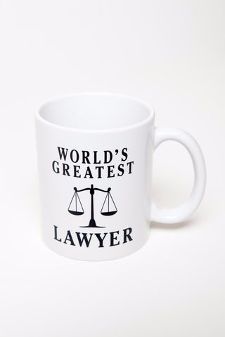 "Saul Goodman's ""World's Greatest Lawyer"" Coffee Mug, as seen on Breaking Bad"