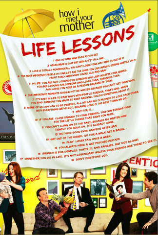 "Life Lessons Poster, inspired by How I Met Your Mother (36"" x 24"")"