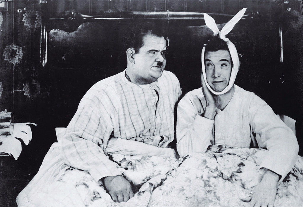Laurel And Hardy Poster As Seen In Joey Chandlers Apartment On Friends TV Show