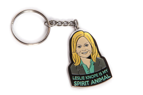 Leslie Knope Is My Spirit Animal, Keychain Inspired by Parks and Recreation