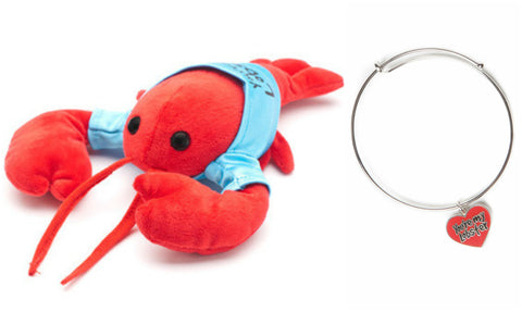 """You're My Lobster"" Gift Set (Lobster Plush and Charm Bracelet), inspired by Friends"