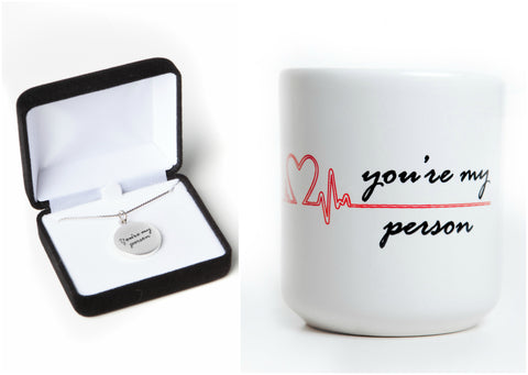 """You're My Person"" Soul Mate Bundle with Charm Necklace, inspired by Grey's Anatomy"