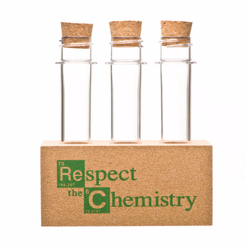 """Respect the Chemistry"" Test Tube Rack, inspired by Breaking Bad"