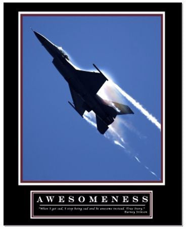 "Awesomeness Motivational Poster, as seen in Barney Stinson's Office (36"" x 24"")"