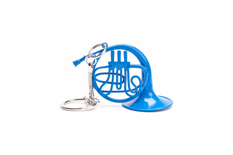 Blue French Horn Keychain, inspired by How I Met Your Mother