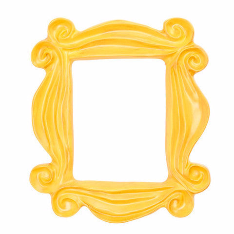 Handmade Yellow Peephole Frame as seen on Monica's Door