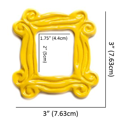 "Yellow Peephole Frame Magnet (3"" x 3""), inspired by the one on ..."