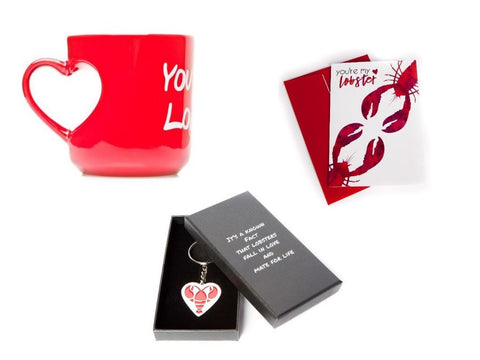 You're My Lobster Heart Mug and Keychain Set inspired by FRIENDS