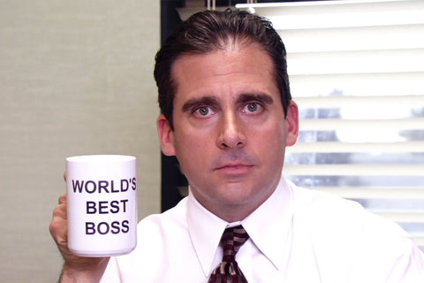 Worlds Best Boss Coffee Mug as used by Michael Scott on The