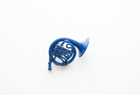 Blue French Horn Pin