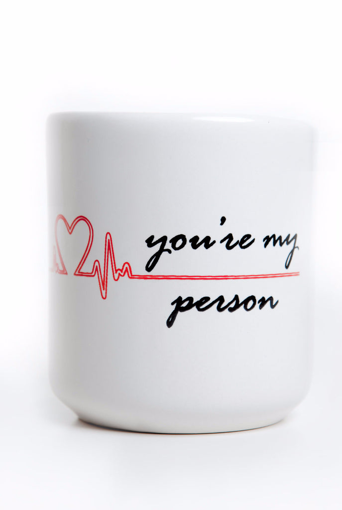 "You\'re My Person"" Heart Mug, inspired by Grey\'s Anatomy – Cool TV Props"