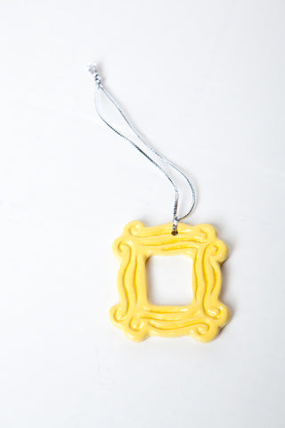 "Yellow Peephole Frame Ornament (2.25"" x 2.25""), inspired by the one ..."