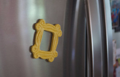 "Yellow Peephole Frame Magnet (3"" x 3""), inspired by the one on Monica's door on Friends"