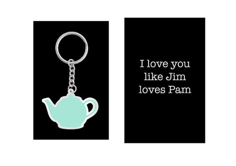 Teapot Keychain, Inspired by Jim and Pam of The Office