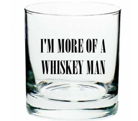 "Ron Swanson Whiskey Glass ""I'm More of a Whiskey Man"" inspired by Parks and Recreation"