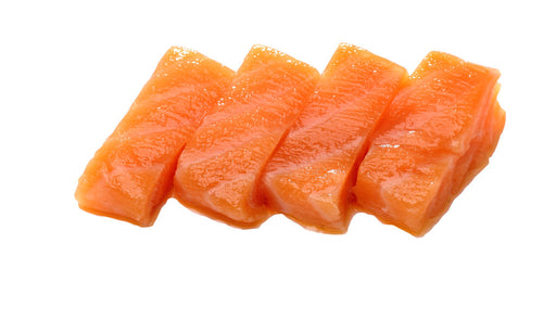 3) Salmon Sashimi (4 pieces)