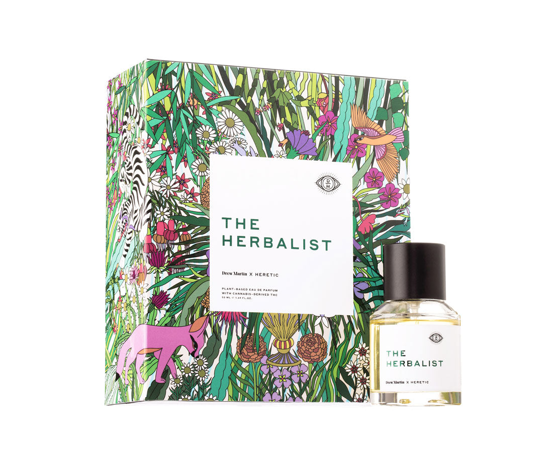 The Herbalist Perfume bottle with packaging