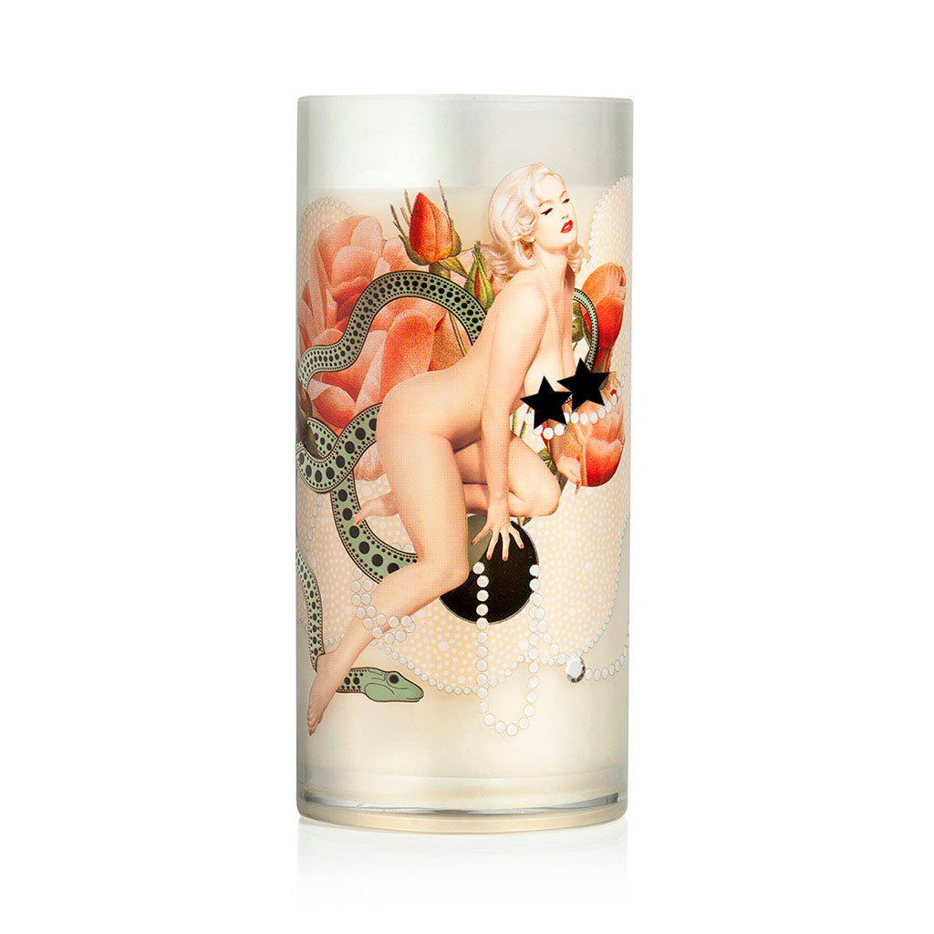 Rose Bud Striptease Candle Nude