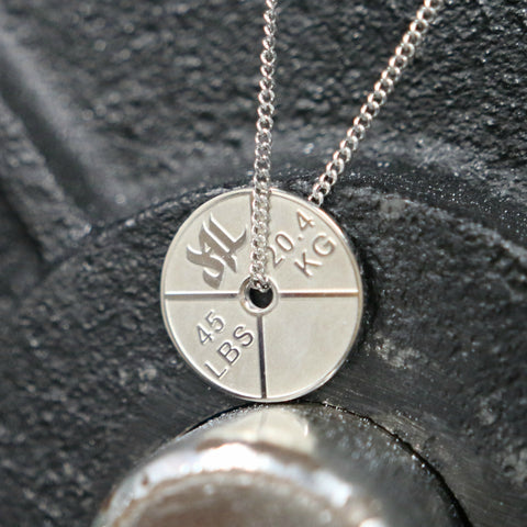 V.2 Stainless Steel Weight Plate Necklace