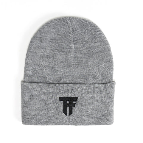 TF Logo Beanie - Heather Grey