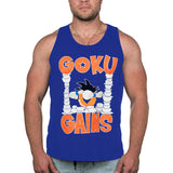 Original Goku Gains TANK - Royal Blue - Furious Apparel