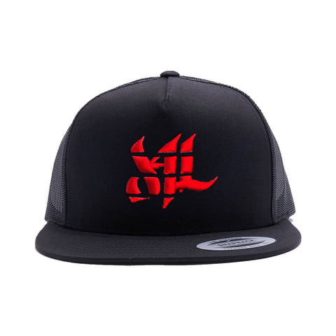 Sport Classic Trucker Hat - Black/Red