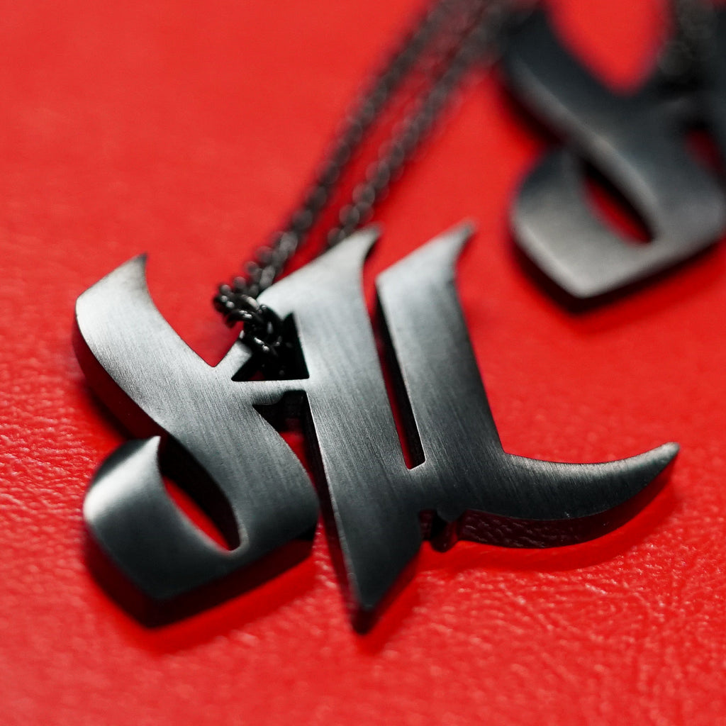 d4L Matte Black Stainless Steel Necklace - Furious Apparel