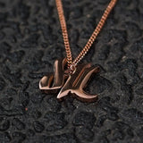 d4L Mini Rose Gold Necklace - Furious Apparel