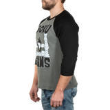Goku Gains Raglan Tee BLACK EDITION - Deep Heather
