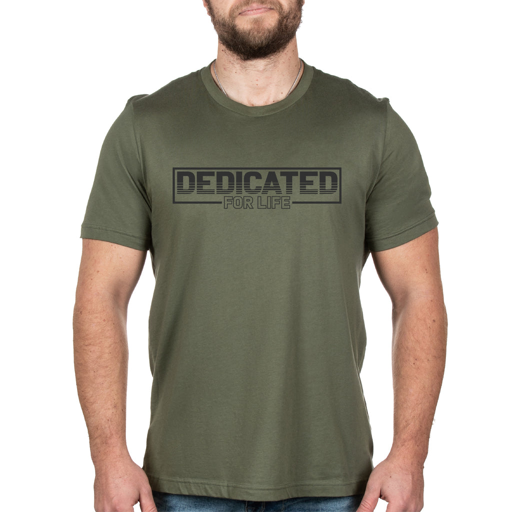 Retro Tee - Military Green - Furious Apparel
