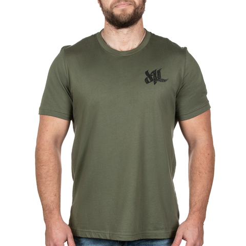 Fragmented Tee - Military Green - Furious Apparel