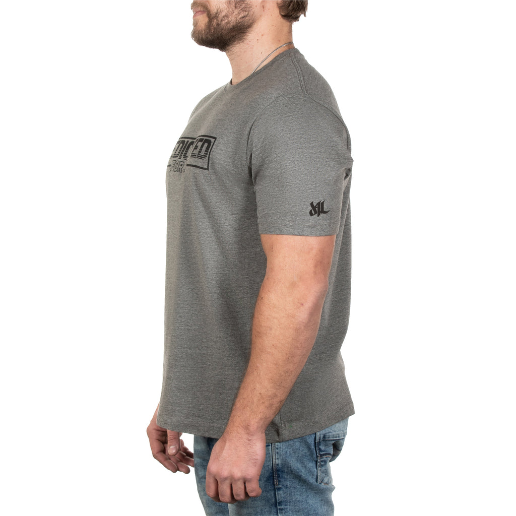 Retro Tee - Gunmetal Heather - Furious Apparel