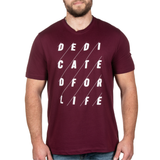 4x4 DEDICATED Tee - Burgundy - Furious Apparel