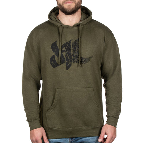 Fragmented Hoodie - Army Heather - Furious Apparel