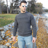 Retro Signature Crew - Gunmetal Heather - Furious Apparel