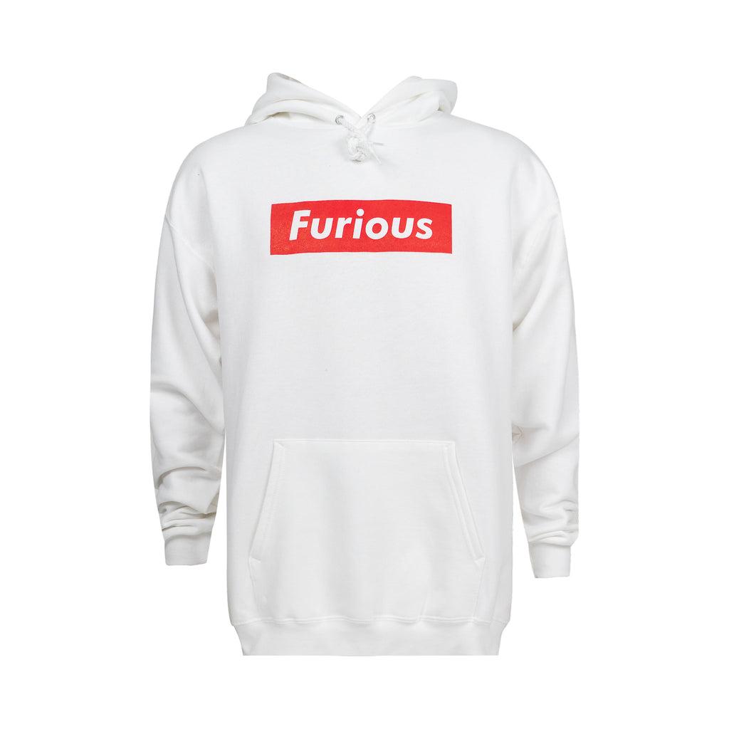 RED LABEL Hoodie - White - Furious Apparel