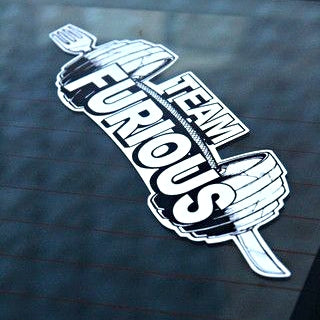 "12"" Team Furious Decal - Furious Apparel"