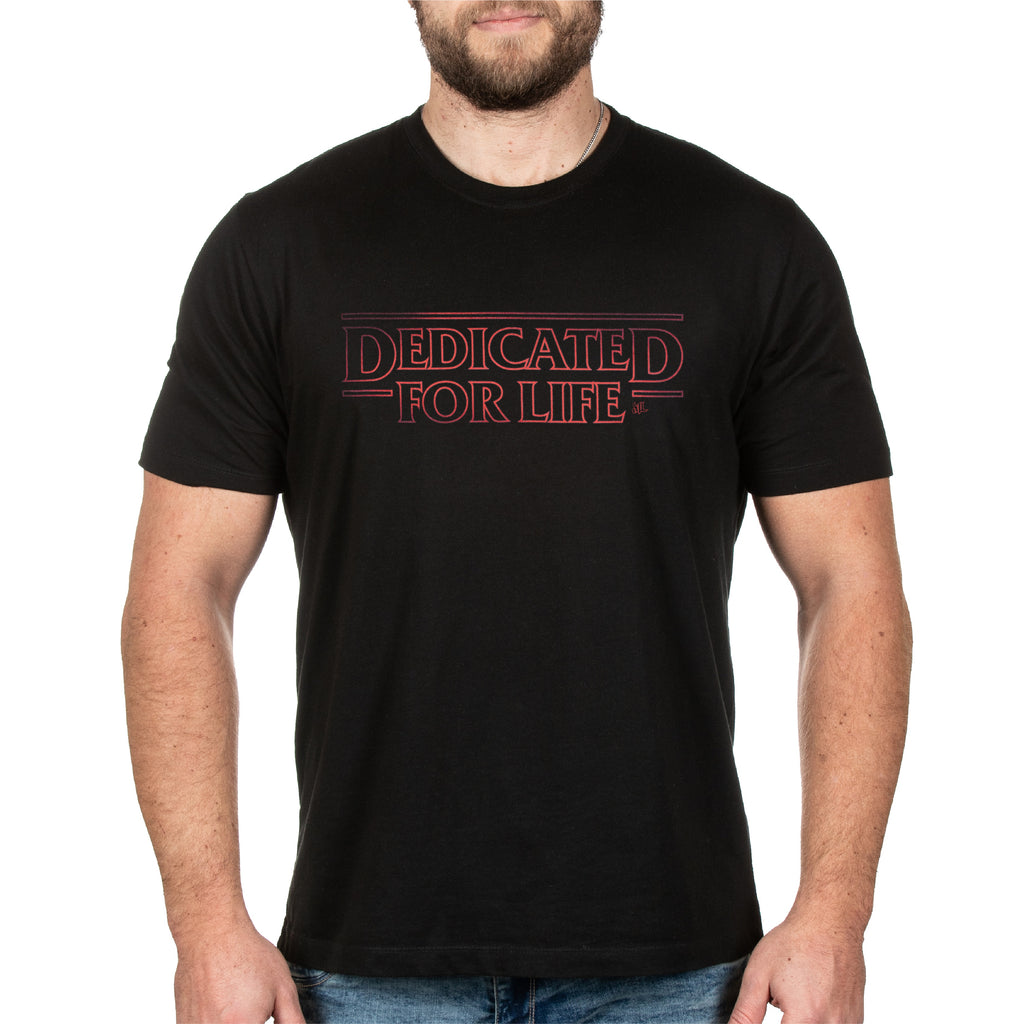 Dedicated For Life X Stranger Things Tee - Black - Furious Apparel