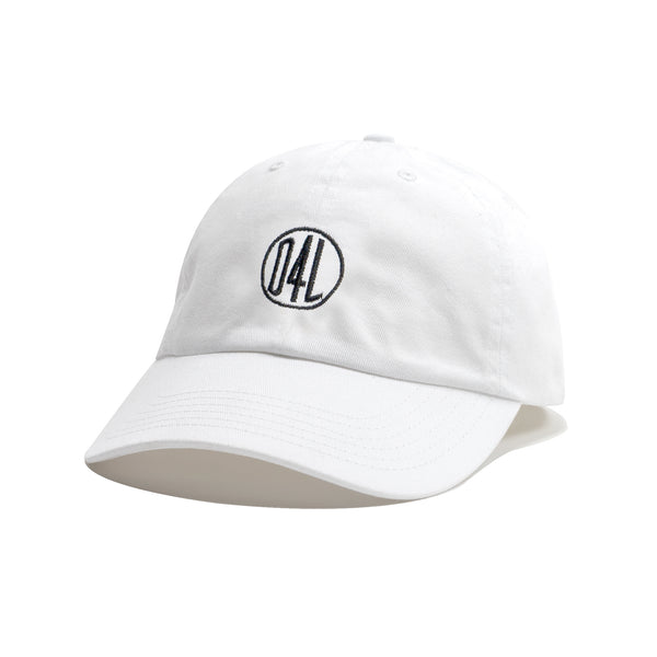 D4L Logo Dad Hat - White