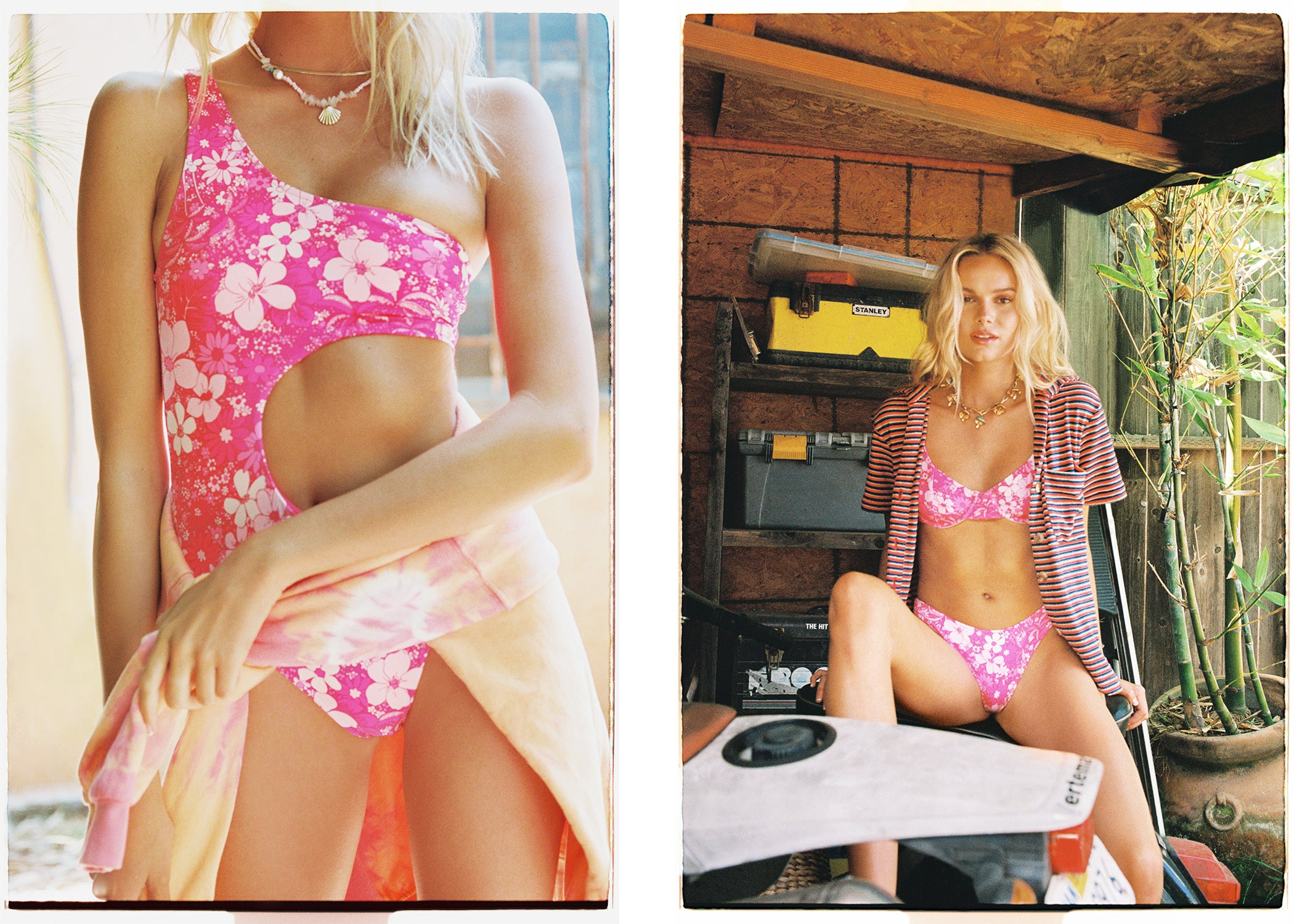 frankies bikinis love in venice collection new hot pink floral bikini