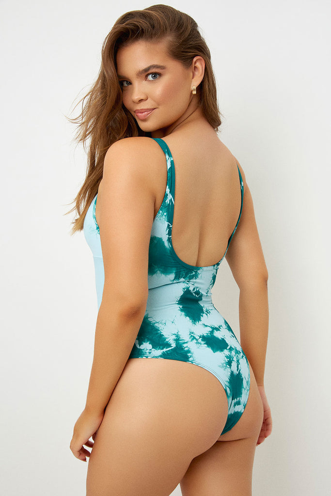 tie dye one piece swimsuit spring break