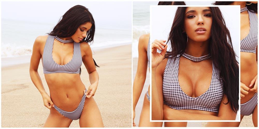 32c2237ef4b46 Frankies Girl Yovanna Ventura blue and white checkered bikini set