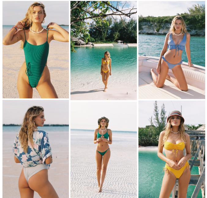 Frankies Bikinis Resort 2020 swimwear campaign