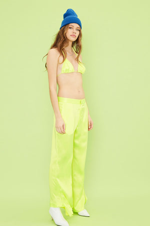 Aiello by Frankies Bikinis Sunglow Tides Silk Trousers 2019