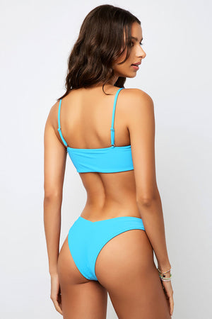 Frankies Bikinis Enzo Ribbed Top Azure