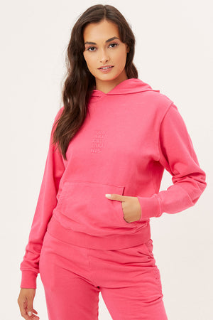 Aiden Rosewood Pink Oversized Hoodie