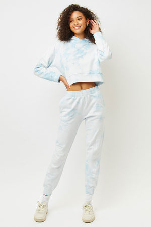 Aiden baby blue tie dye slim fit sweatpant