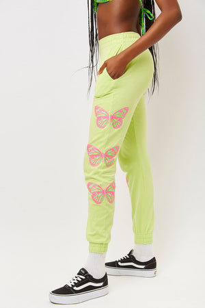 Aiden Grass Butterfly Slim Fit Sweatpant